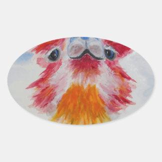 Allie Alpaca Oval Sticker