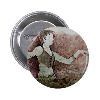 Allie Cat Grunge Tribal Belly Dancer 2 Inch Round Button