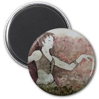 Allie Cat Grunge Tribal Belly Dancer 2 Inch Round Magnet