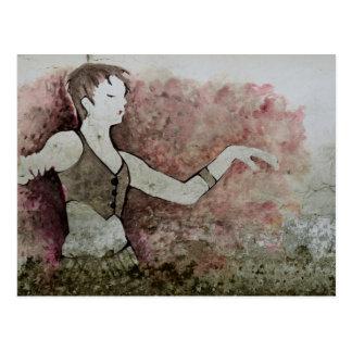 Allie Cat Grunge Tribal Belly Dancer Postcard