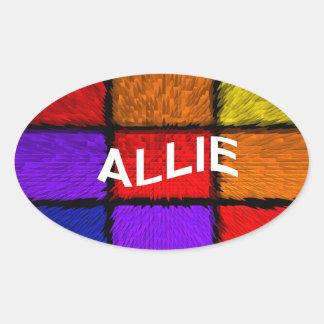 ALLIE ( female names ) Oval Sticker