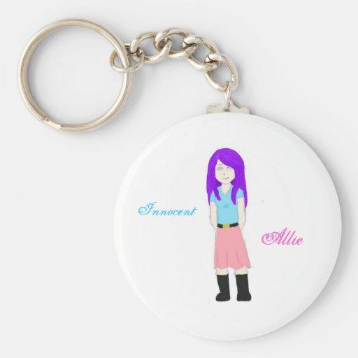 Allie inocente llaveros personalizados
