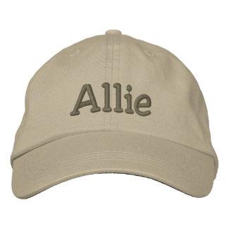 Allie Name Embroidered Baseball Cap - Khaki