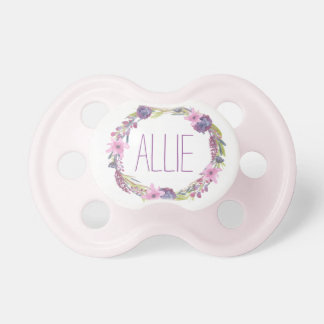 """""""Allie"""" Simple & Elegant Personalized Name Pacifier"""