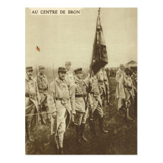 Allied soldiers at Bron Postcard