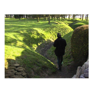 Allied trenches at  Newfoundland Park in the Somme Postcard
