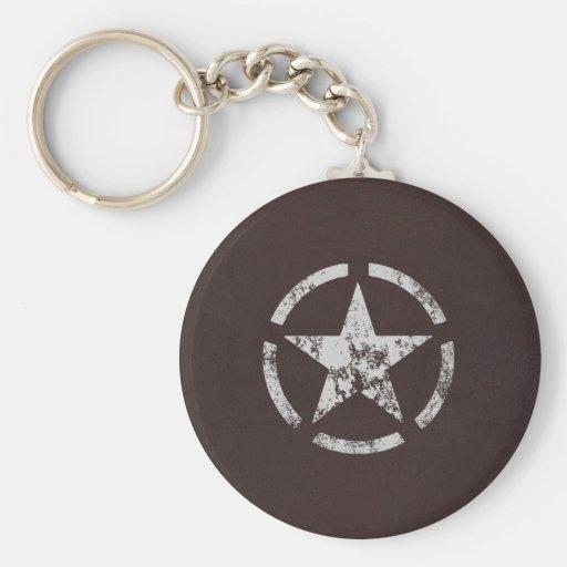 Allied US White Star Vintage Keychain