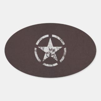 Allied US White Star Vintage Oval Sticker