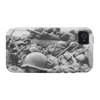 Allied World War II Soldiers Crossing the Rhine Vibe iPhone 4 Covers
