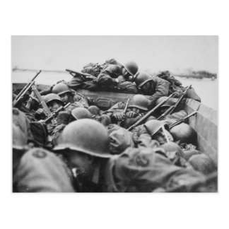 Allied World War II Soldiers Crossing the Rhine Postcard