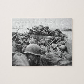 Allied World War II Soldiers Crossing the Rhine Puzzle