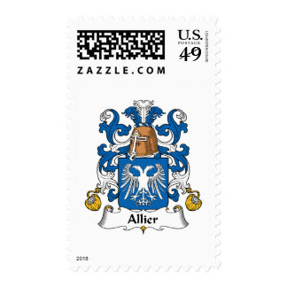Allier Family Crest Postage Stamps