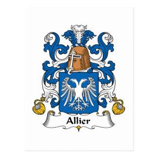 Allier Family Crest Postcard