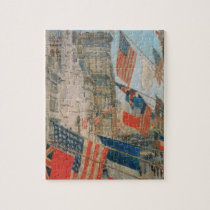 Allies Day, May 1917 by Childe Hassam, Vintage Art Jigsaw Puzzle