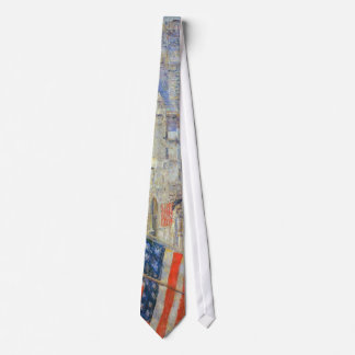 Allies Day, May 1917 by Childe Hassam, Vintage Art Tie
