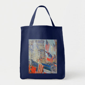 Allies Day, May 1917 by Childe Hassam, Vintage Art Tote Bag