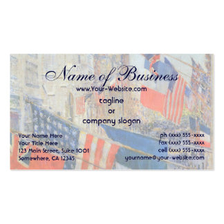 Allies Day, May 1917 by Frederick Childe Hassam Double-Sided Standard Business Cards (Pack Of 100)