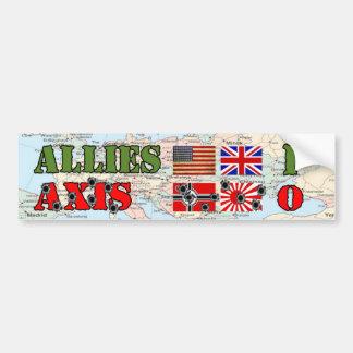 Allies vs. Axis World War II Bumper Sticker Car Bumper Sticker