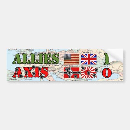 Allies vs. Axis World War II Bumper Sticker