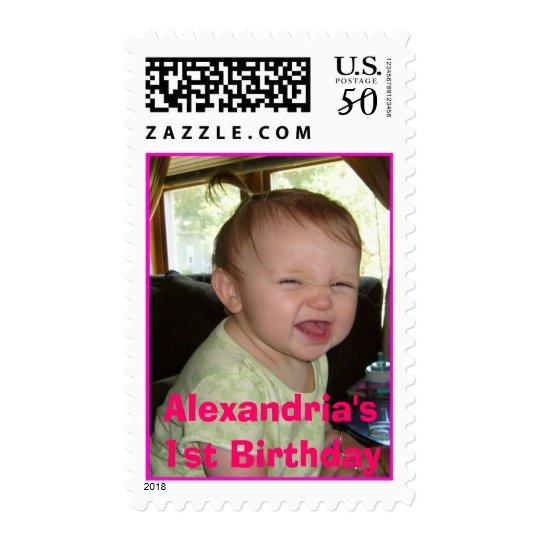 AllieWRNose, Alexandria's1st Birthday Postage