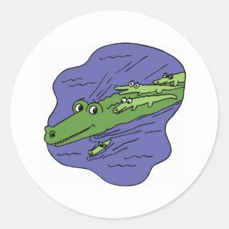 Alligator-10115 Classic Round Sticker