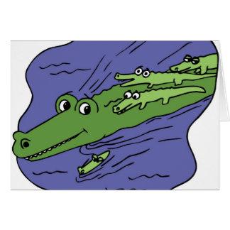 Alligator-10115 Greeting Card