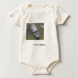 alligator#2, A is for Alligator Baby Bodysuit