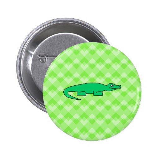 Alligator. 2 Inch Round Button