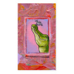 Alligator and bird balance of power fun unique art business card