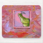 Alligator and bird balance of power fun unique art mousepads