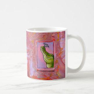 Alligator and bird balance of power fun unique art mugs