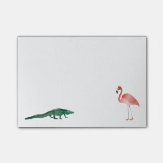 Alligator And Flamingo Post-it® Notes