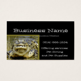 Alligator Animal Business Card