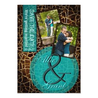 Alligator Animal Print Wedding Save the Date Cards