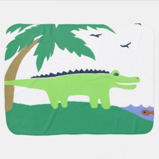 Alligator Baby Blanket, Matches Safari Sky, Cute Stroller Blankets