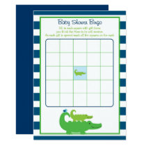 Alligator Baby Shower Bingo Card