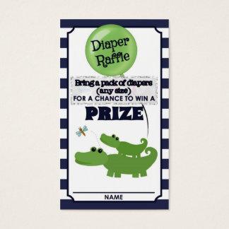 Alligator Baby Shower DIAPER RAFFLE TICKETS Blue