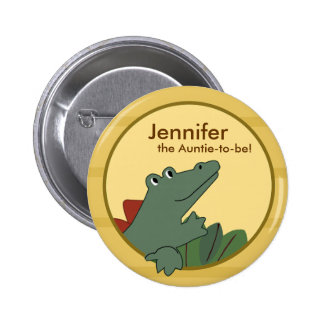 Alligator Baby Shower or Birthday Personalized Button