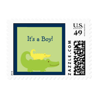 Alligator Baby Shower Postage Stamps
