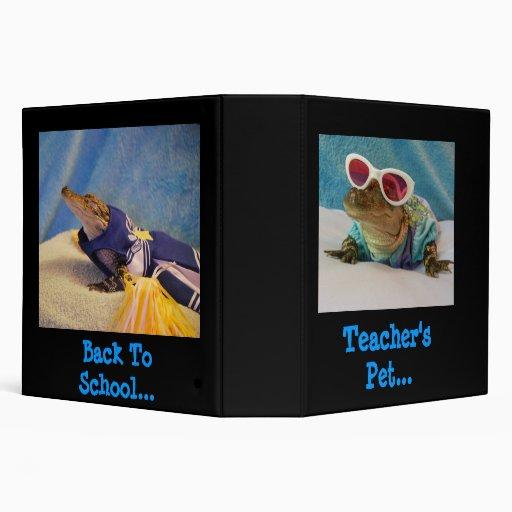 """Alligator"" Back to school binder"