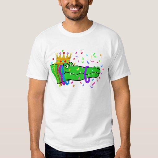 Alligator Beads Mardi Gras T-Shirt