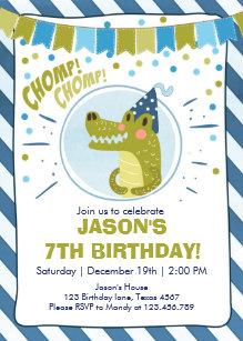 Boys 7th Birthday Invitations Zazzle