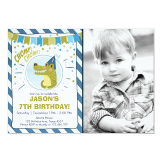Alligator birthday invitation Alligator party Boy