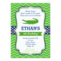 Alligator Birthday Invitations