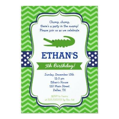 Alligator birthday party invitations zazzle filmwisefo
