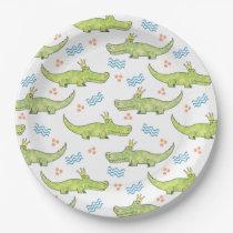 "Alligator Birthday Paper Plate 9"""