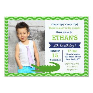 Alligator Birthday Party Invitations