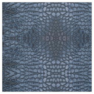 Alligator Blue Faux Leather Fabric