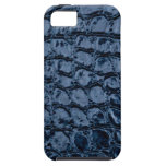 Alligator Blue Faux Leather iPhone 5/5S Cases