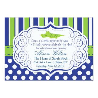"ALLIGATOR BOY BABY SHOWER INVITE 5"" X 7"" INVITATION CARD"